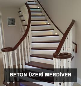 Ahşap Merdiven | Beton Üzeri Merdiven