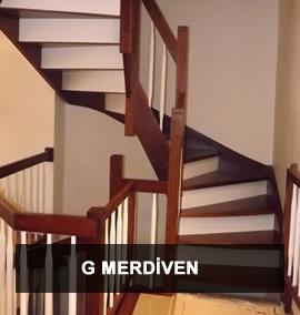 Ahşap Merdiven | G Dönüşlü Merdiven
