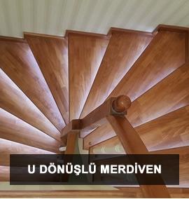 Ahşap Merdiven | U Dönüşlü Merdiven